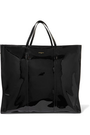 Balenciaga Bazar XL patent-leather shopper
