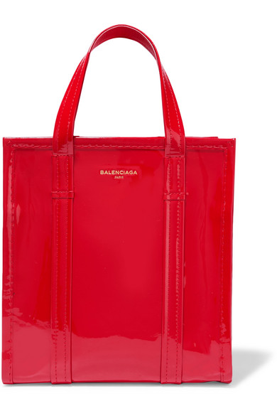 Balenciaga - Bazar Patent-leather Tote - Red