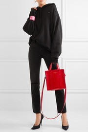 Bazar patent-leather tote
