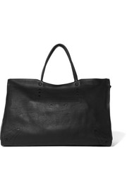 Balenciaga City Blackout XL perforated leather tote