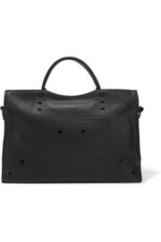 Balenciaga Blackout City perforated leather tote