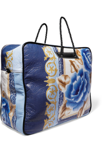 Blanket Xl Printed Textured Leather Tote