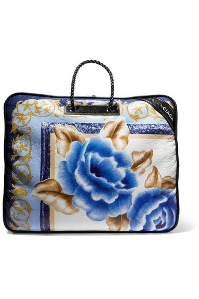 0396d59e0e8f2e Balenciaga   Blanket XL printed textured-leather tote   NET-A-PORTER.COM
