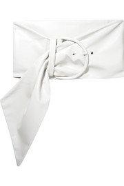 Balenciaga Scarf oversized leather waist belt