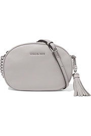 Ginny small textured-leather shoulder bag
