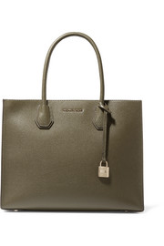 Mercer large textured-leather tote