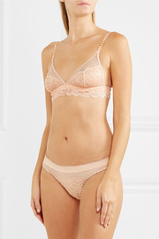 Sophie Surprising stretch-lace and mesh soft-cup bra