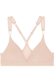 Stella McCartney Stella Sporty mesh-paneled stretch-jersey bra