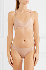 Stella McCartney Stella Sporty mesh-paneled stretch-jersey briefs