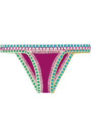 Coco crochet-trimmed triangle bikini briefs