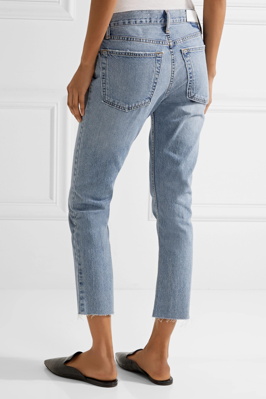 RE/DONE Originals Relaxed Crop frayed slim boyfriend jeans