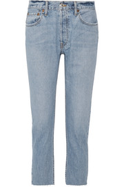 Originals cropped frayed slim boyfriend jeans