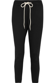 Bassike Cropped cotton-blend jersey track pants