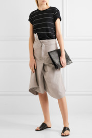 Asymmetric cotton-drill skirt