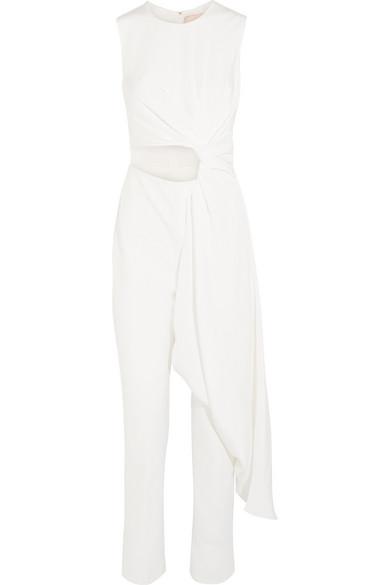 Roksanda Thurloe drapierter Jumpsuit aus Jersey und Crêpe mit Cut-out