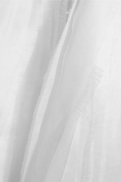 Roksanda Alden Blazer aus Cady aus einer Seidenmischung mit Chiffonbesatz