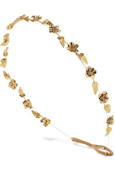 Jennifer Behr - Margaux Gold-plated Swarovski Crystal Headband - one size