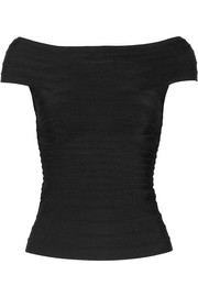 Hervé Léger Francesca off-the-shoulder bandage top