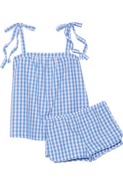 Sadie gingham cotton-poplin pajama set