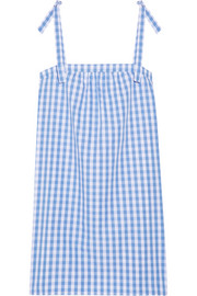 Stella gingham cotton-poplin nightdress