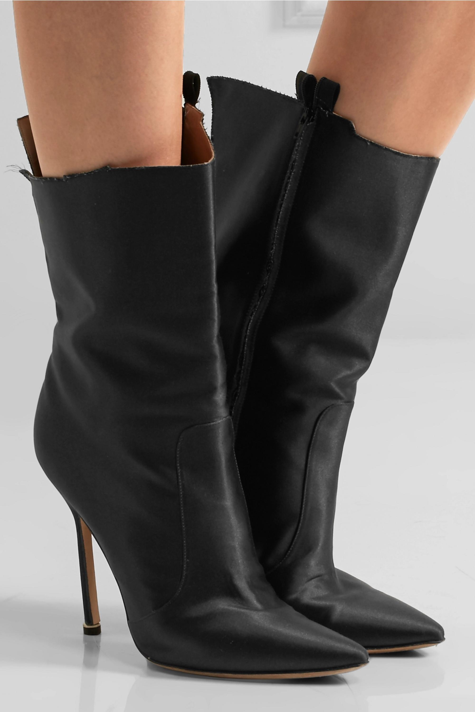 Vetements + Manolo Blahnik cutout satin boots