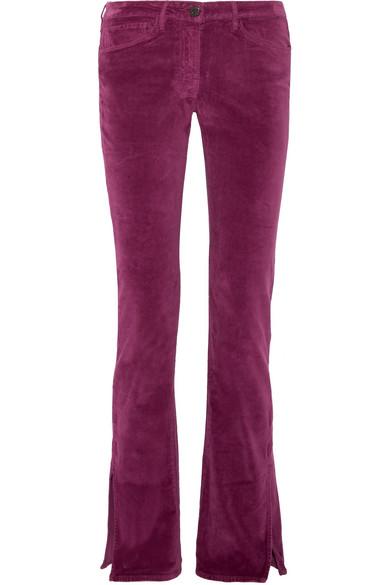 3x1 - Velvet Bootcut Pants - Plum
