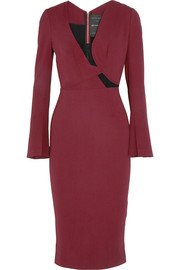 Roland Mouret Ormond lace-paneled stretch-crepe dress