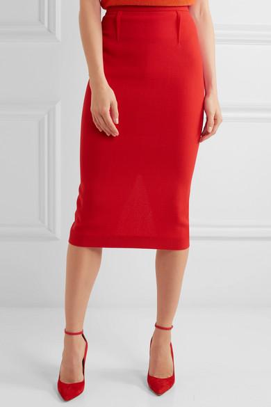 Roland Mouret | Arreton wool-crepe pencil skirt