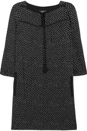 A.P.C. Atelier de Production et de Création Embroidered polka-dot crepon mini dress