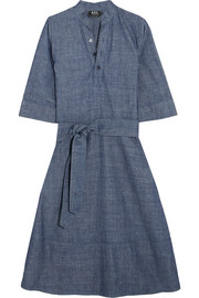 Oleson cotton-chambray midi dress