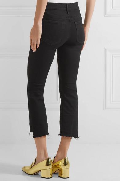 Mother The Insider Crop hoch sitzende Bootcut-Jeans