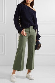 The Roller cropped mid-rise flared jeans