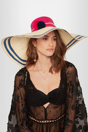 Sophie Anderson Corozon pompom-embellished woven straw hat