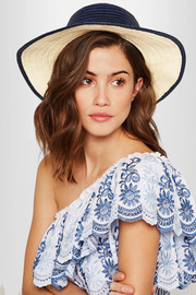 Sophie Anderson Laila pompom-embellished toquilla straw hat