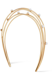 Cornelia Webb Gold-plated pearl headband