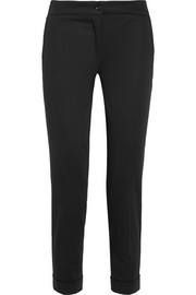 Etro Sigaretta cropped stretch-piqué straight-leg pants