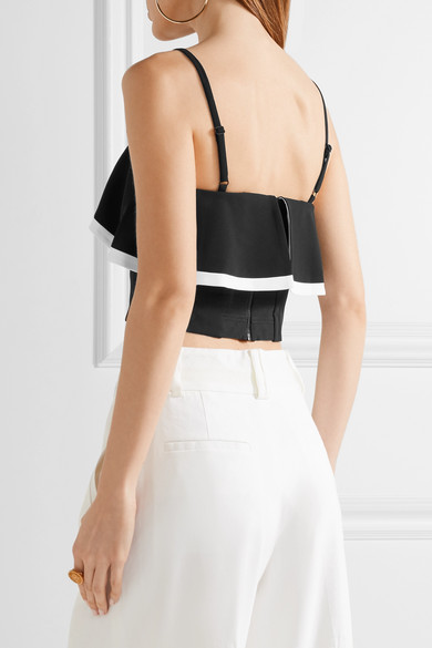 Free Shipping Prices Alice + Olivia Crepe Crop Top Buy Cheap Newest Clearance Low Shipping Fee Buy Cheap With Mastercard 0xBnvQbibk