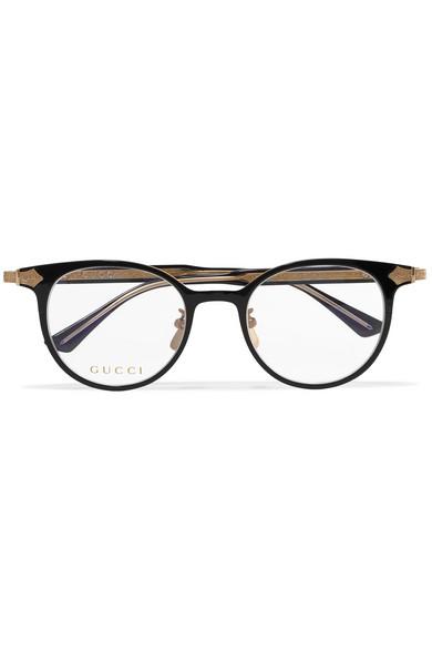 8559c6c3c860ad Gucci   Lunettes de vue rondes en acétate et en métal doré    NET-A-PORTER.COM