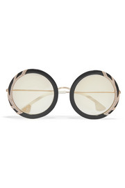 Beverly Swarovski crystal-embellished round-frame acetate sunglasses