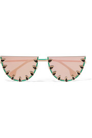 Palm Canyon round-frame gold-tone and acetate sunglasses