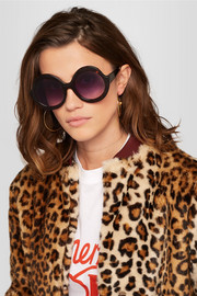 Alice + Olivia Stacey round-frame acetate sunglasses