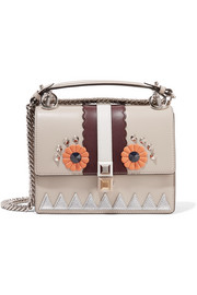 Fendi Kan I mini embellished leather shoulder bag