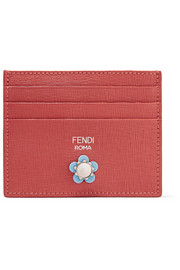 Fendi Embellished textured-leather cardholder