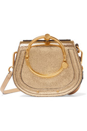 Chloé EXCLUSIVE Nile Bracelet small metallic leather and suede shoulder bag