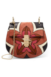 EXCLUSIVE Drew mini leather and suede shoulder bag