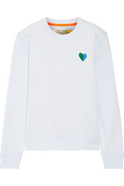 Appliquéd French cotton-terry sweatshirt