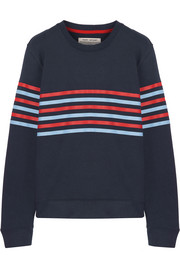 Striped French cotton-terry sweatshirt