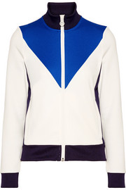 Color-block piqué track jacket