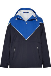 Hooded color-block shell track jacket