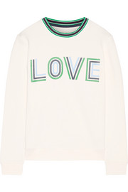 Tory Sport Printed French cotton-terry sweatshirt